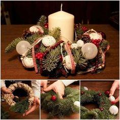 Risultati immagini per centrotavola natalizi fai da te