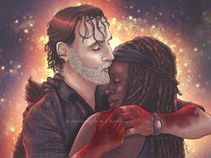 Walking Dead Series, Fear The Walking Dead, Rick And Michonne, Rick Grimes, Interracial Art, Merle Dixon, Vision Of Love, Mixed Couples, Bwwm