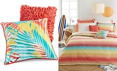 Teen Vogue Electric Beach Decorative Pillows