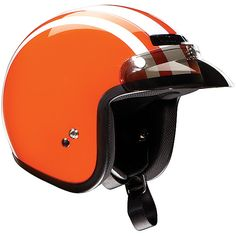 orange retro helmet to match my one day orange scooter!