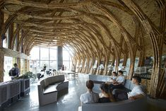 Architects from around the world show what they can create using bamboo construction in the first International Bamboo Architecture Biennale in China. Bamboo Architecture, Architecture Details, Interior Architecture, Pavillion Design, Bamboo Building, Eco Buildings, Bamboo Structure, Bamboo Construction, Natural Structures