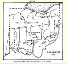 Indian R, Ohio Map, Northwest Territories, Interesting Information, Native American History, Blog Tips, North West, Social Studies, Genealogy