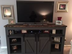 Grandy Sliding Door Console Table | Do It Yourself Home Projects from Ana White