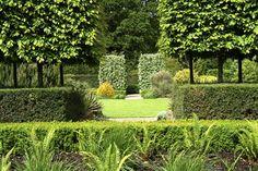 Here's a lovely example of a well kept English garden! Garden Landscape Design, Garden Landscaping, Landscape Architecture, Love Garden, Dream Garden, Topiary Garden, Specimen Trees, Garden Inspiration, Garden Ideas