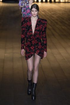 View the full Fall 2018 collection from Saint Laurent. Vogue Fashion ffaa4502c2b