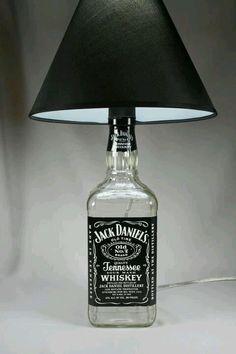 Man cave beautiful bottle lamp …