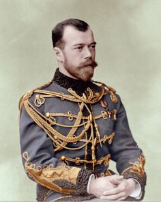 Tsar Nicholas II of Russia - His father never properly prepared him to become Tsar as he died much sooner than he had expected... He met his future wife at a cousin's wedding and proposed to her soon after meeting. she rejected his proposal on the grounds that she could not convert to Orthodoxy. She accepted with his second proposal.