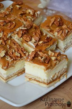Polish Desserts, Cookie Desserts, No Bake Desserts, Delicious Desserts, Yummy Food, Baking Recipes, Cake Recipes, Dessert Recipes, Banana Pudding Recipes