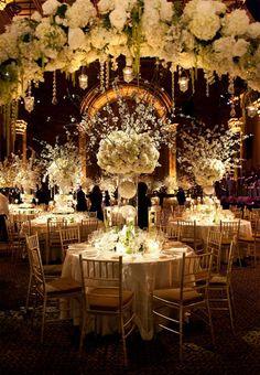 Full tall wedding centerpieces
