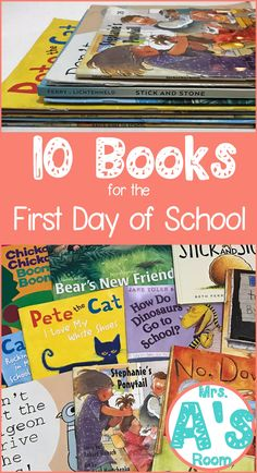 The first day of school can be tricky, but books are always guaranteed to please! Find out my top 10 books for the first day of preschool or kindergarten and why I love them so much! Kindergarten Themes, Kindergarten First Day, Preschool Themes, Preschool First Day, Prek Literacy, Fall Preschool, Kindergarten Graduation, First Day School, Beginning Of The School Year