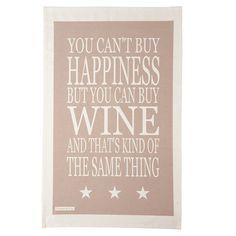 Buy Green and Co. Wine Teatowel, Grey online at John Lewis