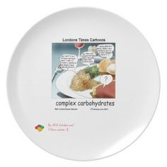 #ComplexCarbohydrates #Cartoon #PartyPlates by @LTCartoons @zazzle #plates #dinnerware #autism series #autistic #ASD #benefit #humor #gift #philosophy @pinterest #foodies