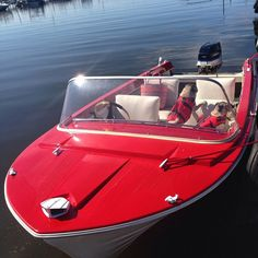 After a very long period of time trolling Craig's List Aaron found this 1963 Westfield MFG runabout boat for an unheard of price. Power Boats, Speed Boats, Jet Ski, Duck Boat Blind, Glass Boat, Chris Craft Boats, Runabout Boat, Boat Restoration, Wood Boat Plans