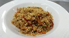 Wok de arroz con vegetales