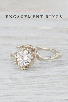 nature inspired engagement ring, nature engagement, outdoor engagement, twig engagement ring, twig ring, diamond engagement ring, diamond twig ring, unique engagement ring by Olivia Ewing Jewelry