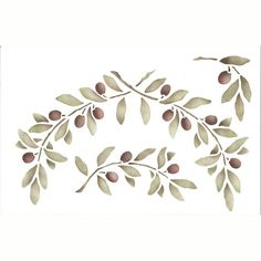 Wall Stencils   Provence Olives Fruit Stencils   Royal Design Studio