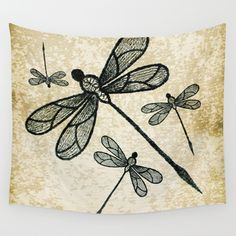 sold, thank you buyer https://society6.com/product/dragonflies-on-tan-texture_tapestry?curator=hereswendy