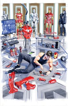 mikemayhew:  INVINCIBLE IRON MAN #1 Dynamic Forces Variant Cover Painting by Mike Mayhew