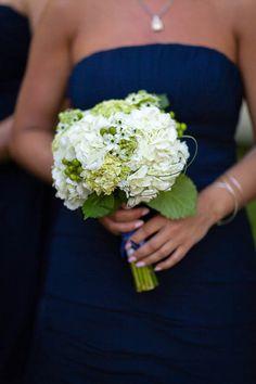 Hydrangeas + Navy | Cape Cod Wedding | Kristen Jane Photography