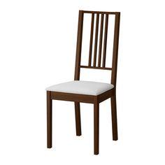 IKEA - BÖRJE, Stuhl, Bezug lässt sich einfach auf- und abziehen.Der Bezug ist maschinenwaschbar: pflegeleicht.Gepolsterter Sitz für besonders bequemes Sitzen.Stuhlgestell aus Massivholz, einem robusten Naturmaterial.