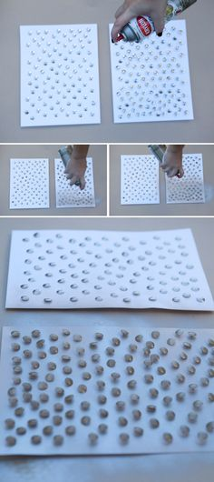 #DIYwedding ~ painting thumbtacks