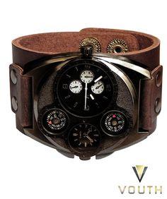 a05cb596ae3 13 melhores imagens de Relógio Bracelete em Couro Masculino ...