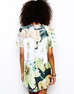 Image 2 of Ichiban Floral Baseball Jersey Dress