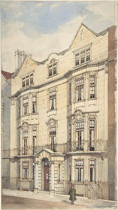 Charles H. Freeman (American, Camden, New Jersey 1859–1918) > Elevation of 30 Charles Street, London