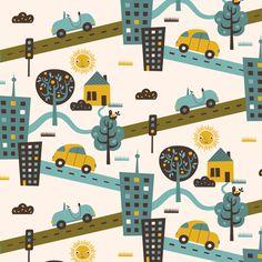 Around Town fabric by zesti on Spoonflower - custom fabric