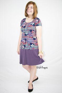 A simple A-line LuLaRoe Azure skirt is an easy, breezy summer skirt!