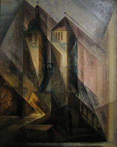 Lyonel Feininger, Regler Church, Erfurt, 1930 | Flickr - Photo Sharing!