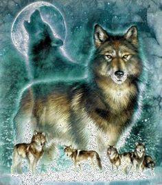 Wolves glitter gifs