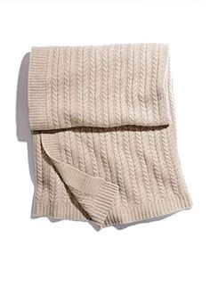 FROM MARSHALLS     cable knit cashmere throw