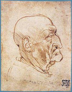 Head of an Old Man in Profile, c.1490, Leonardo da Vinci