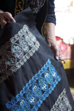 Kazakh Embroidery - high contrast and intricate. Totally striking the first time I saw it!