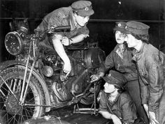 ATS dispatch riders. The Motorcycle is a Velocette MAC.