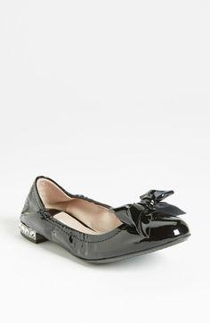 Miu Miu Jeweled Heel Ballerina Flat available at #Nordstrom