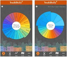 The buddhify app offers more than 80 guided meditations of varying lengths. You just pick what you're doing and need to take a break from, plus a time frame, and the app talks you into relaxation.