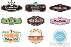 Creative featured tag vector