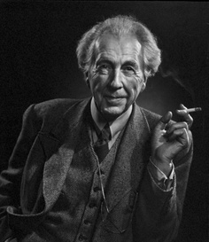 Photograph of Frank Lloyd Wright by Yousuf Karsh.