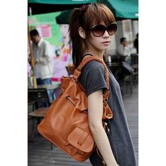 Stylish Leather Casual Shoulder Bags Brown For Women