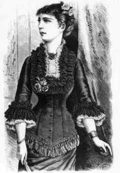 Digitalt Museum - Drakt, kvinnedrakt 1877