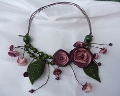 felt flower jewellery by piornik, via Flickr