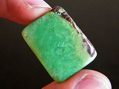 Natural Chrysoprase Rectangle Gemstone Cabochon. 27x21x5 mm. 28 Ct. MMA by YourGemstonesShop on Etsy