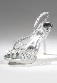 Shoes - High Heel Sandal with Glitter Instep Strap from Camille La Vie and Group USA