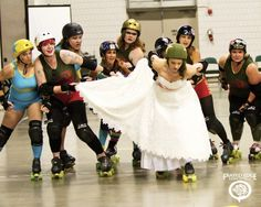 Roller derby wedding rules.