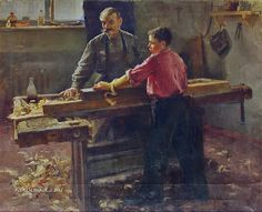 "Unknown artist ""The lesson of work"" 1950"