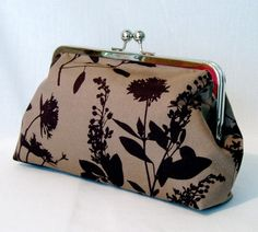 SALE XL FRAME Brown Wildflowers Clutch by girlbyAileen on Etsy - StyleSays