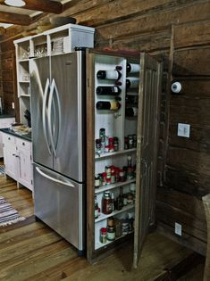 Shed DIY - Ncredible tiny house kitchen decor ideas Now You Can Build ANY Shed In A Weekend Even If You've Zero Woodworking Experience! Kitchen Organization, Kitchen Storage, Kitchen Decor, Kitchen Ideas, Pantry Ideas, Pantry Storage, Storage Organization, Storage Cabinets, Rustic Kitchen Cabinets