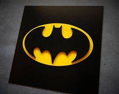 Réduction de 50 % pour l'expédition, super héros Batman, art mural en bois, pour chambre d'enfant